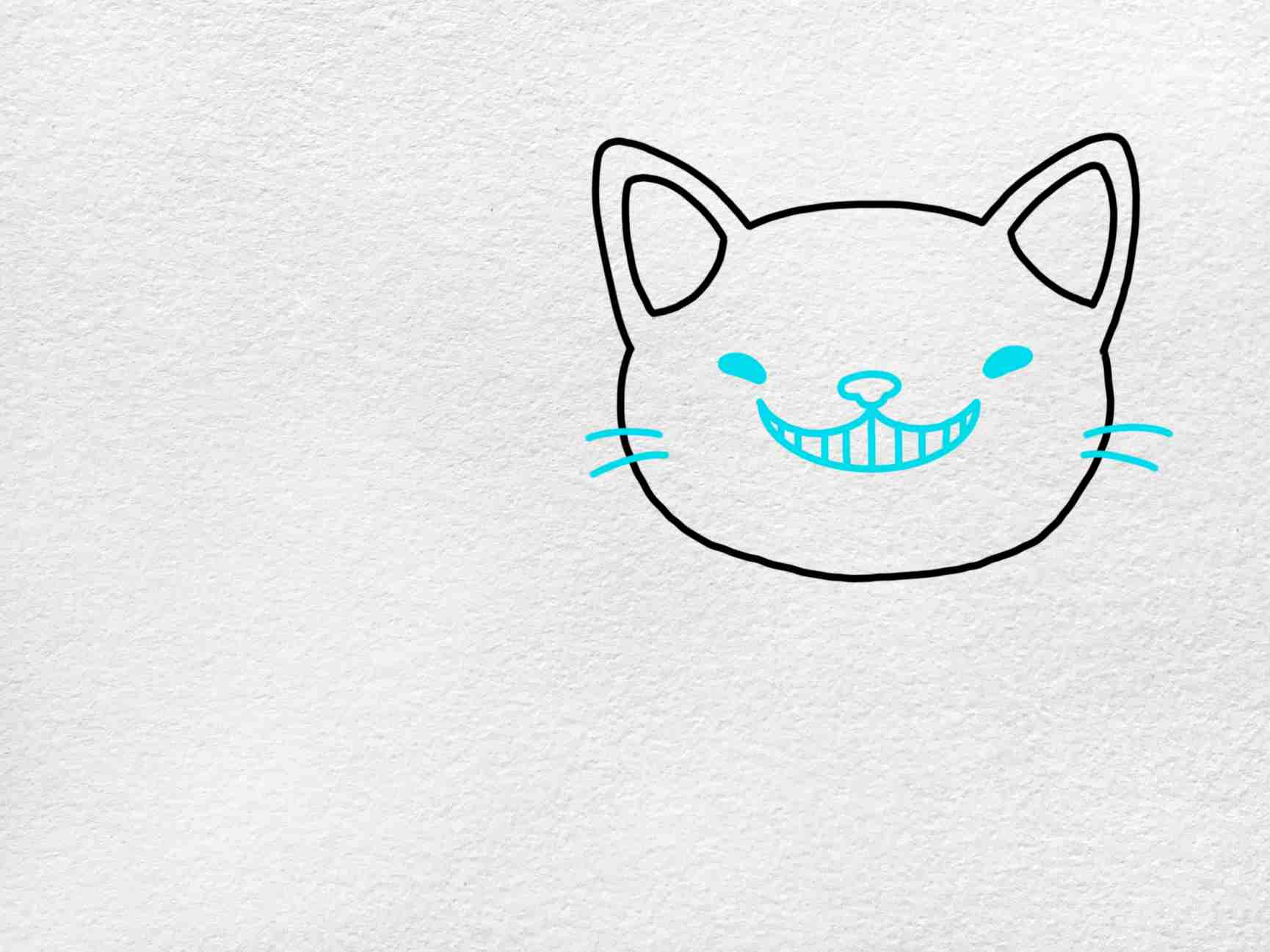 Cheshire Cat Drawing: Step 3