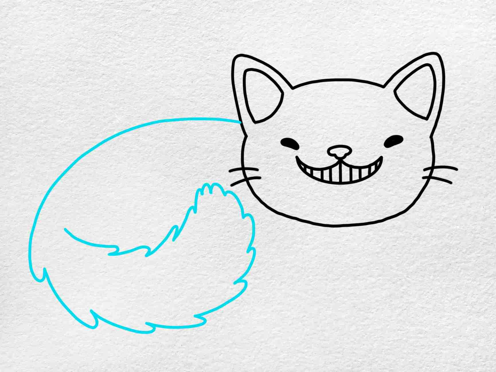 Cheshire Cat Drawing: Step 4
