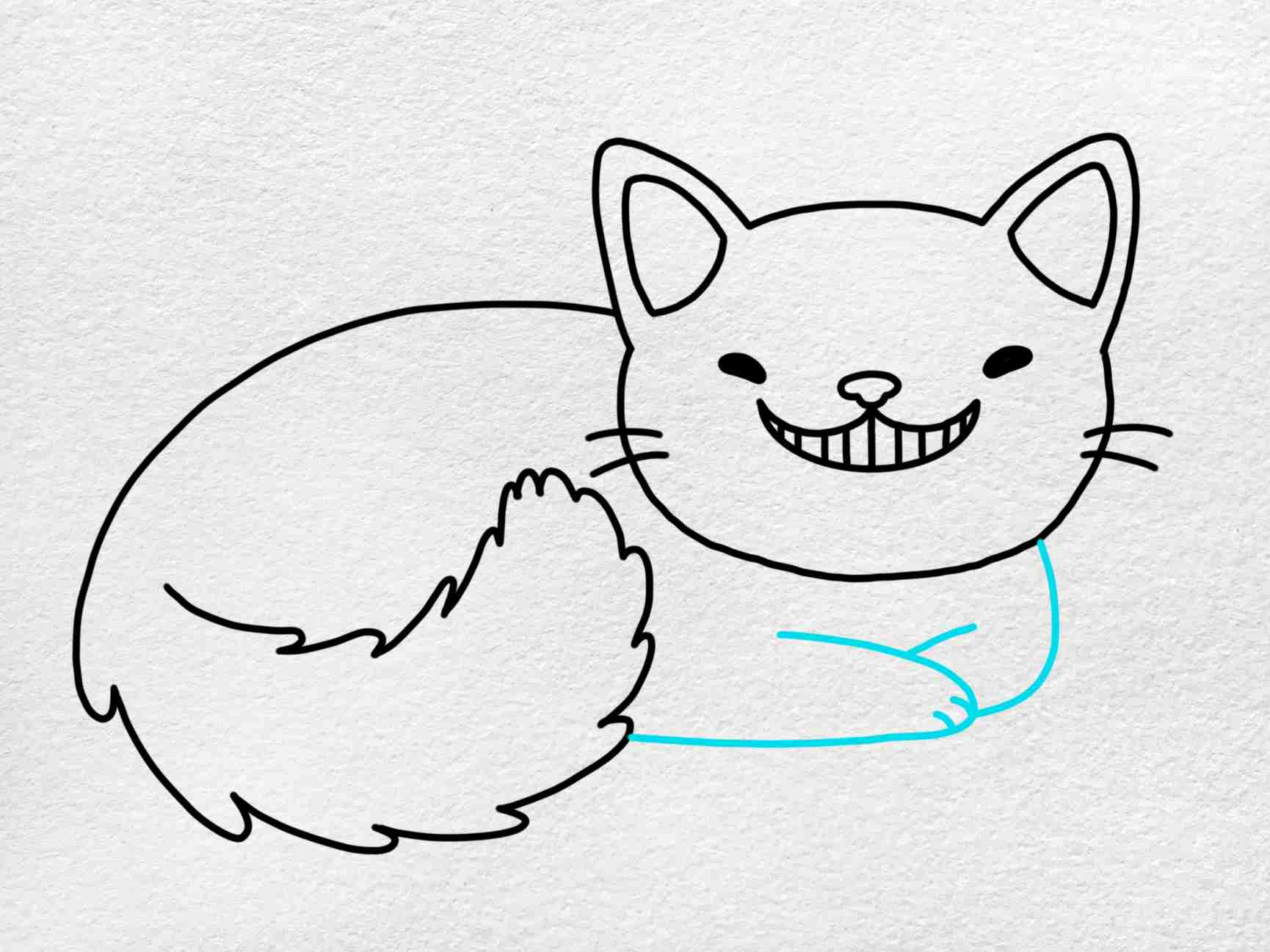 Cheshire Cat Drawing: Step 5