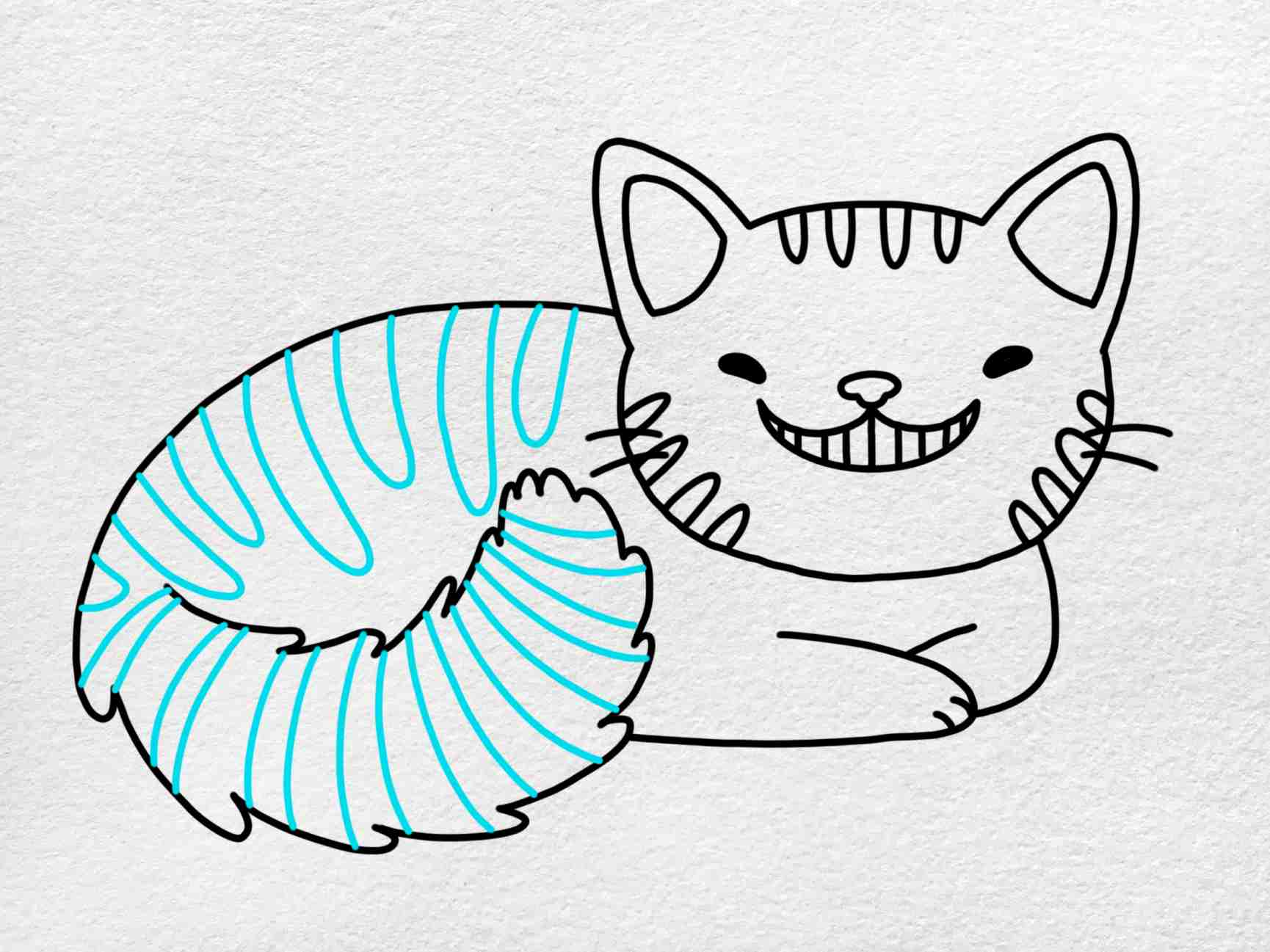 Cheshire Cat Drawing: Step 7