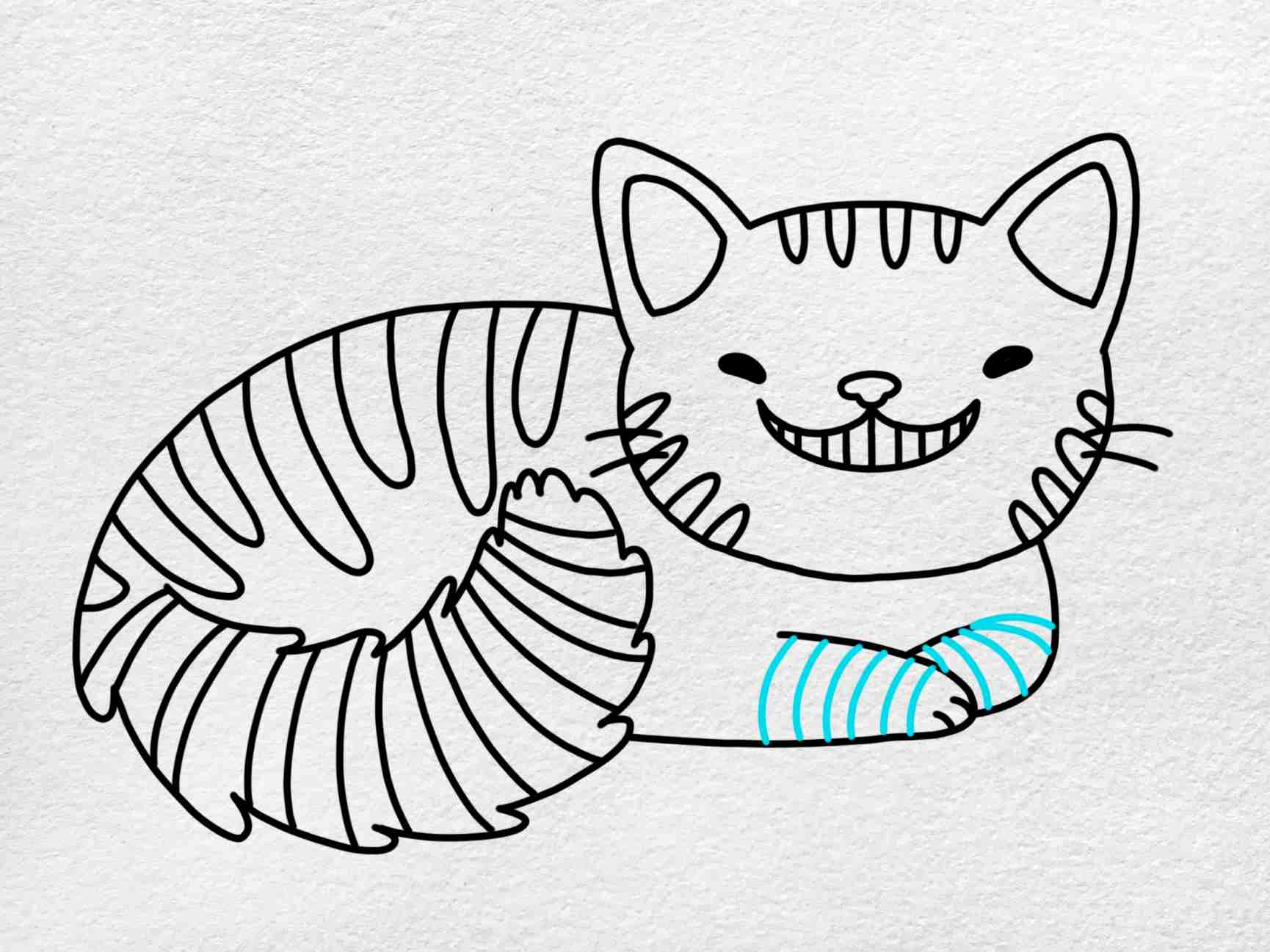 Cheshire Cat Drawing: Step 8