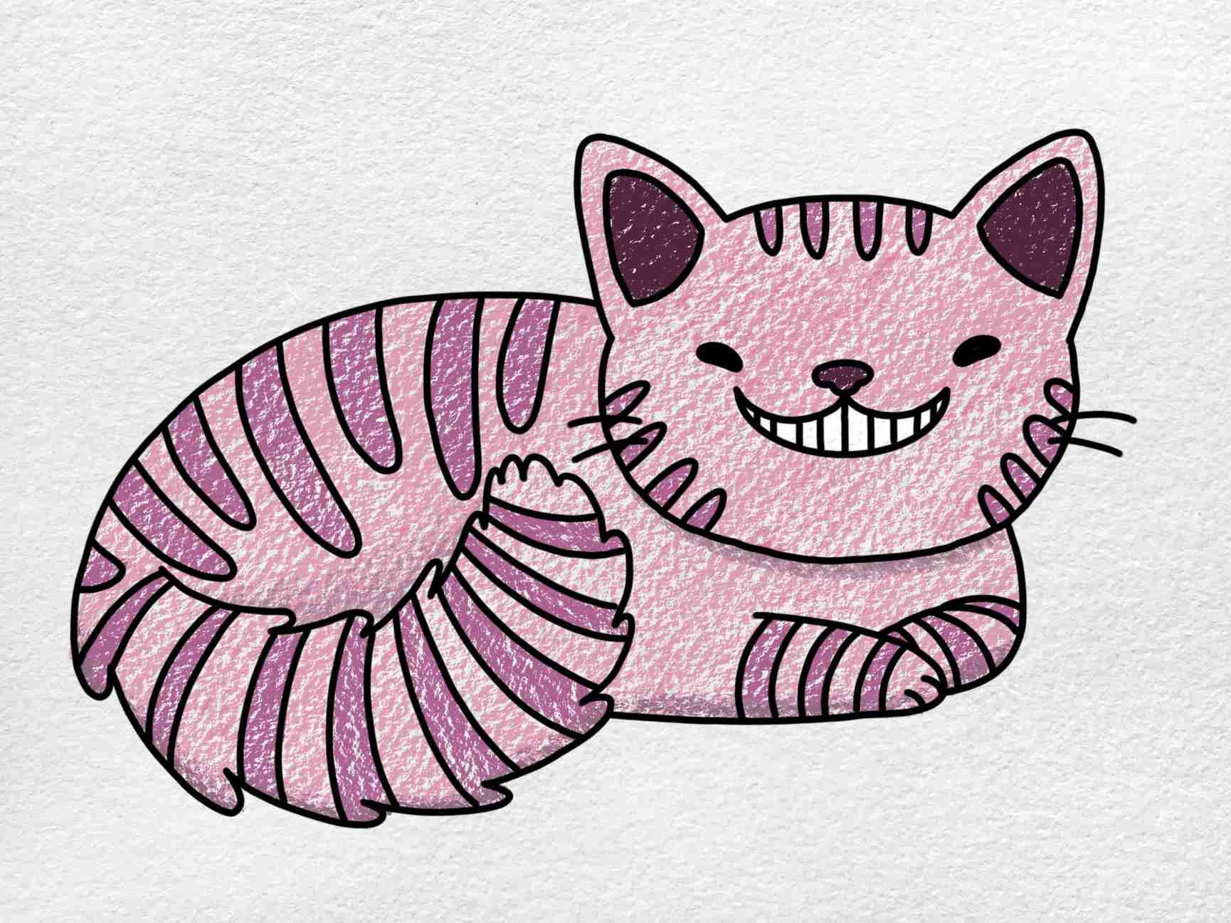 Cheshire Cat Drawing: Step 9
