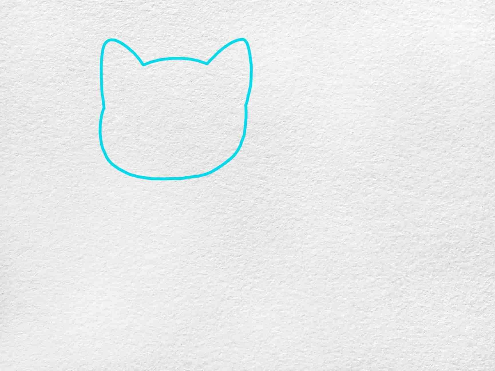 Cute Kitty Drawing: Step 1