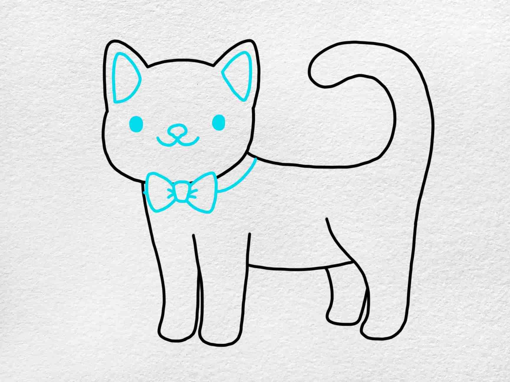 Cute Kitty Drawing: Step 4