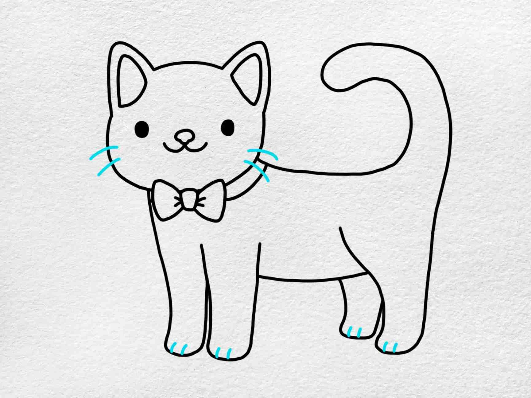Cute Kitty Drawing: Step 5