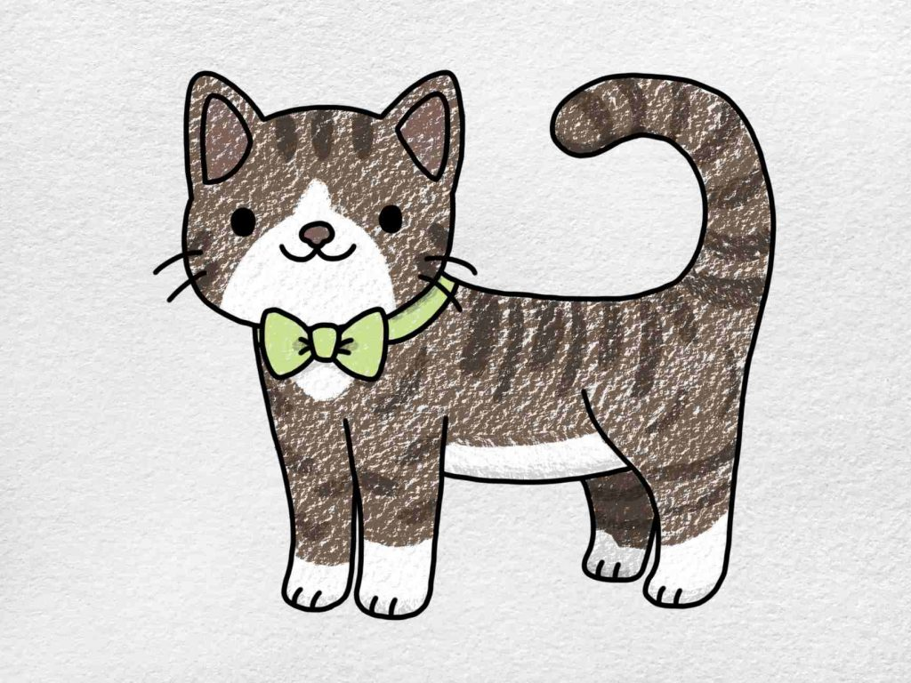Cute Kitty Drawing: Step 6
