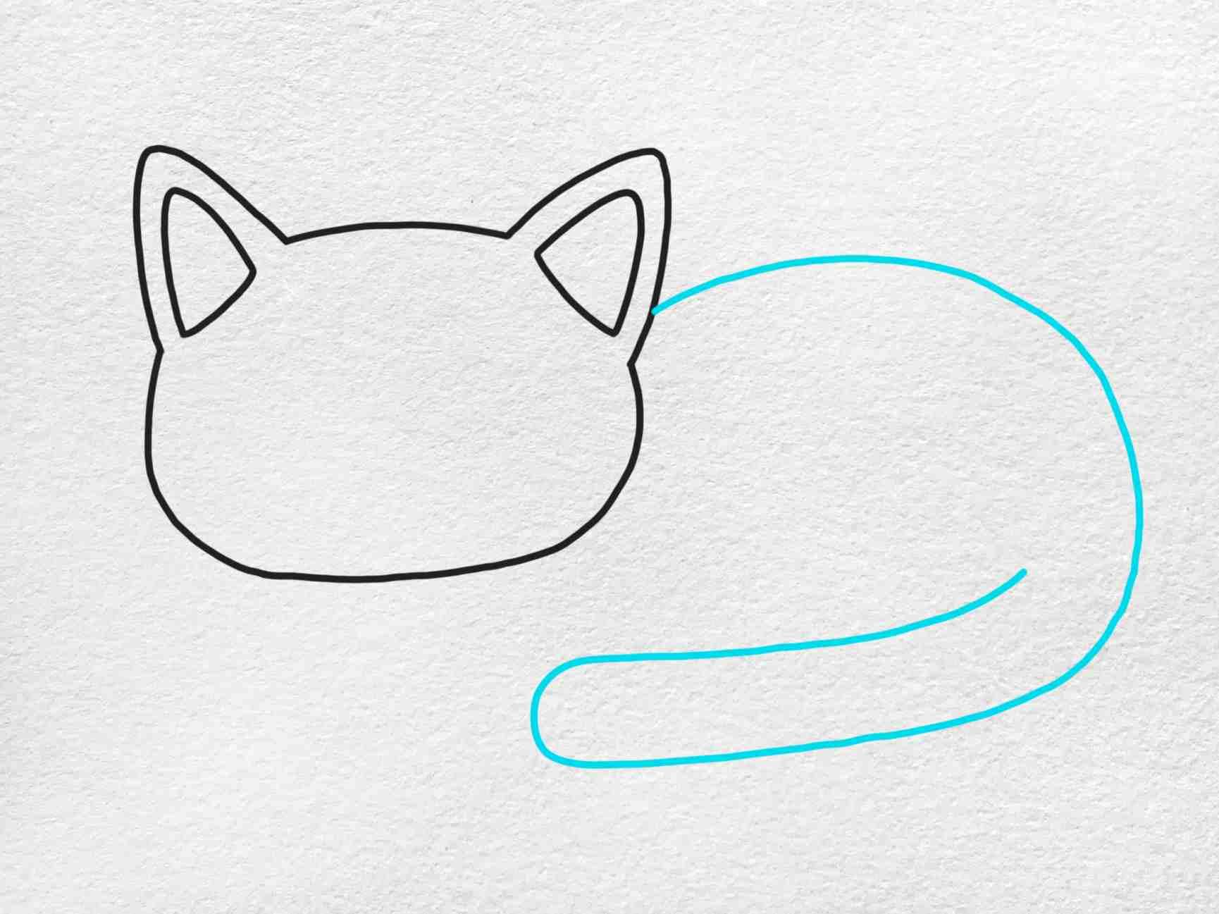 Fat Cat Drawing: Step 3