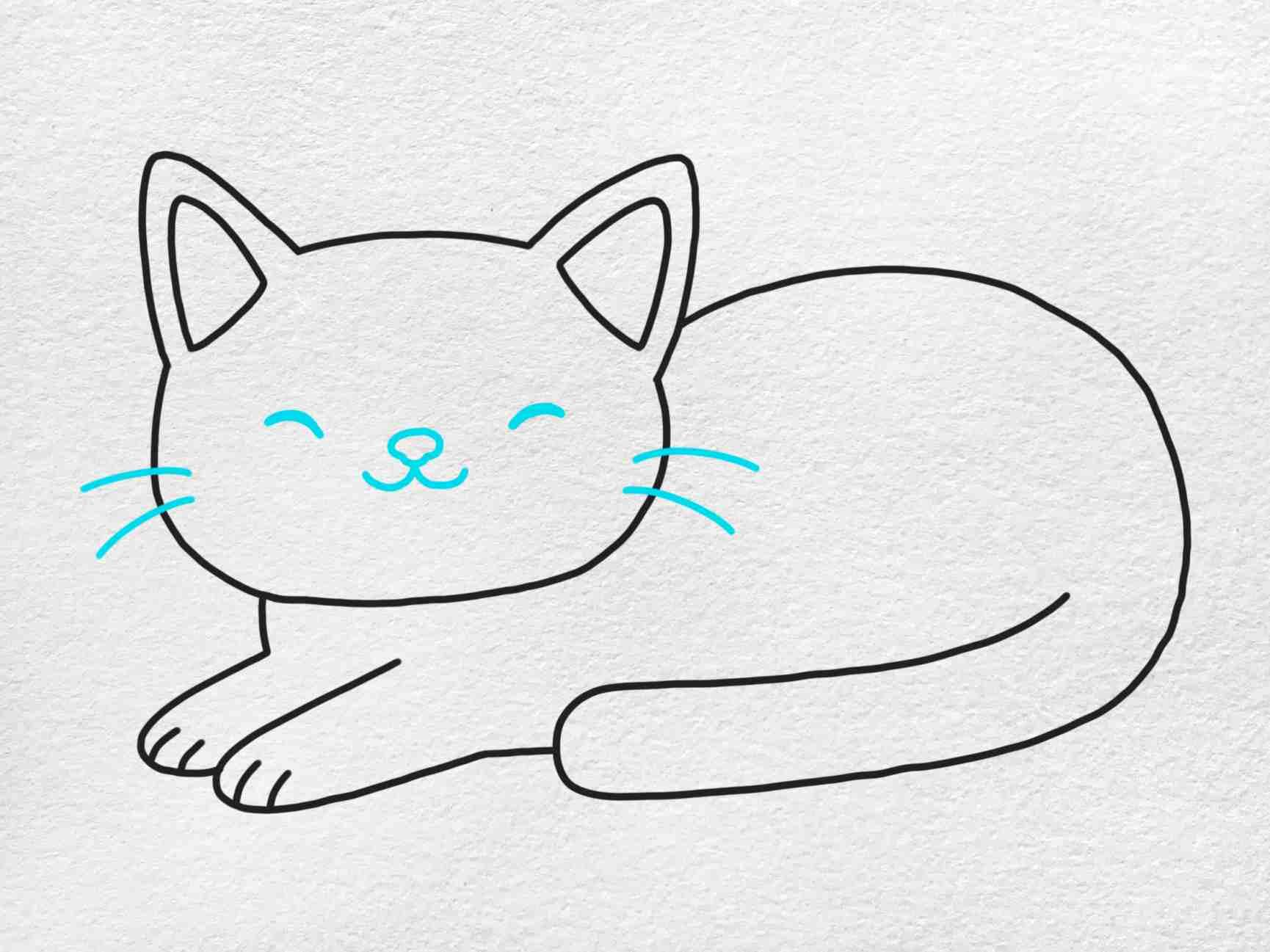 Fat Cat Drawing: Step 5