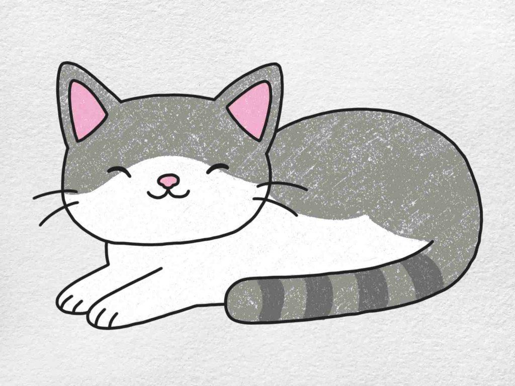 Fat Cat Drawing: Step 6