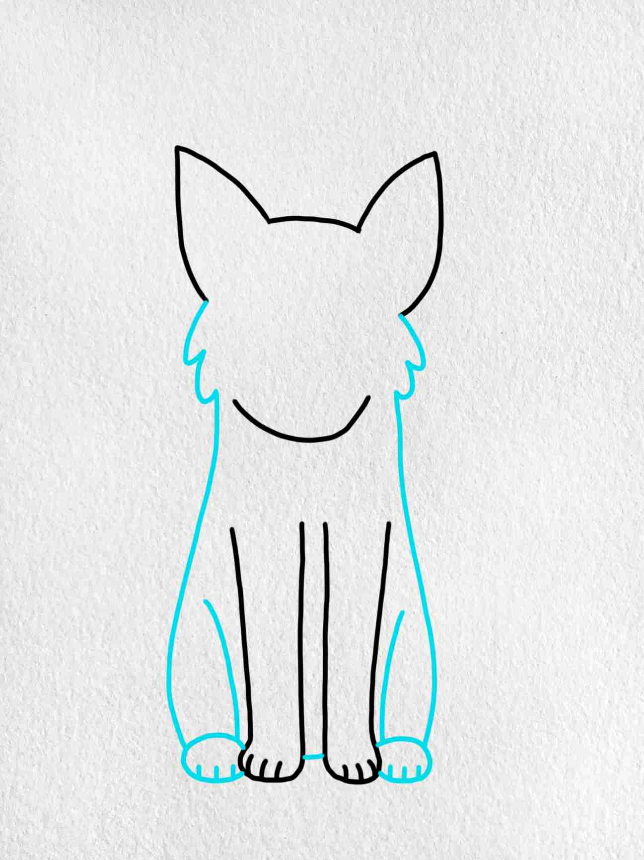 Easy Dog To Draw: Step 3
