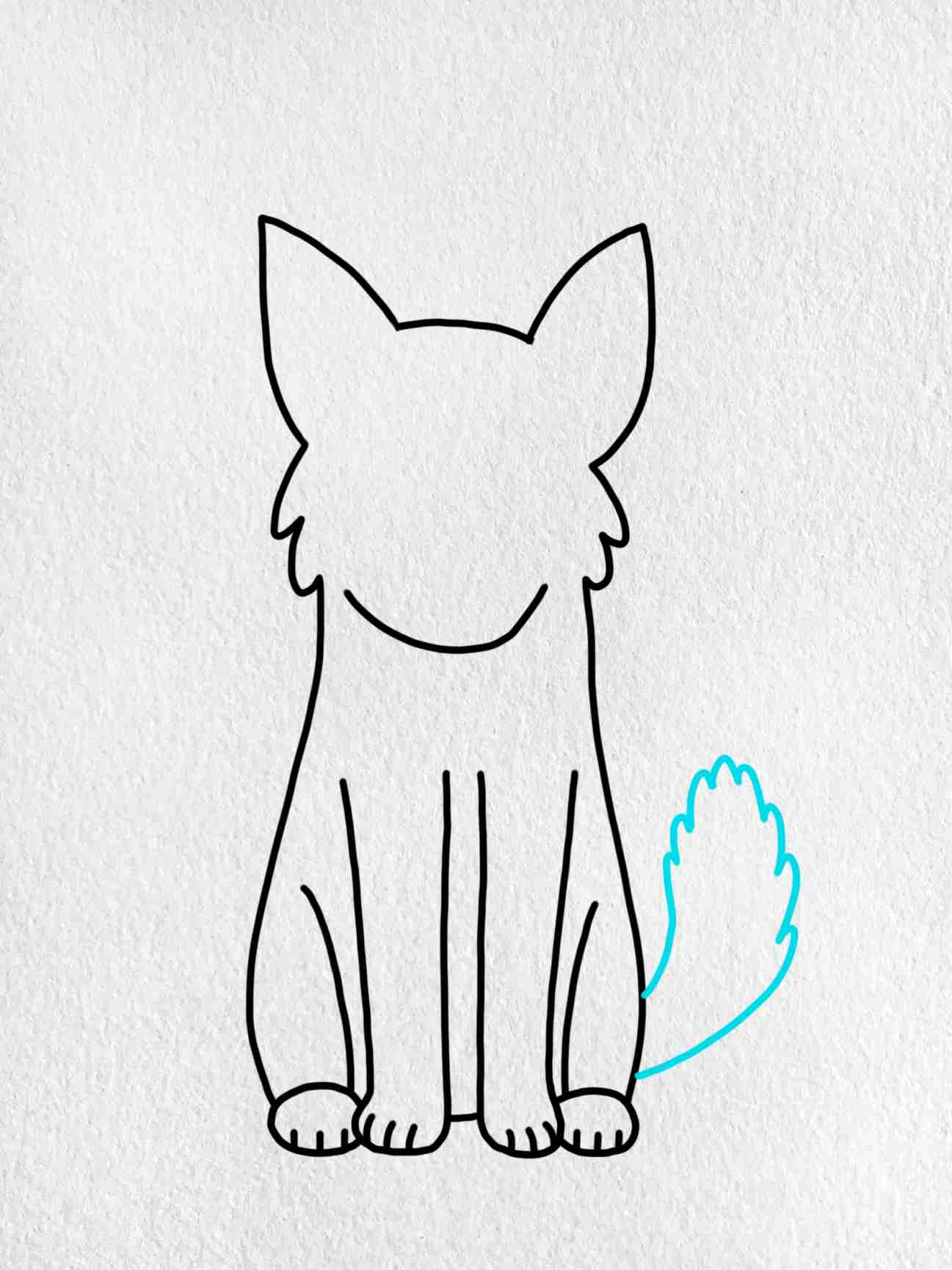 Easy Dog To Draw: Step 4