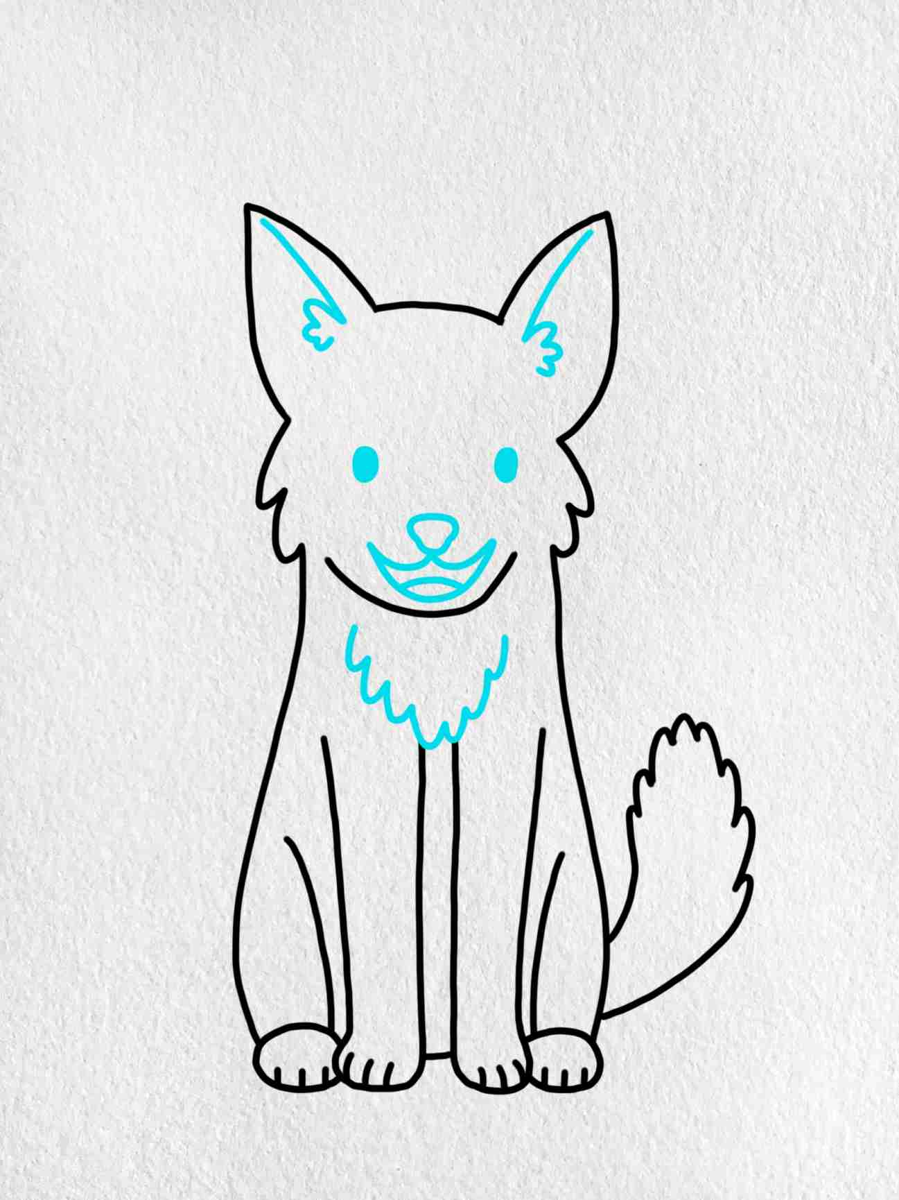 Easy Dog To Draw: Step 5