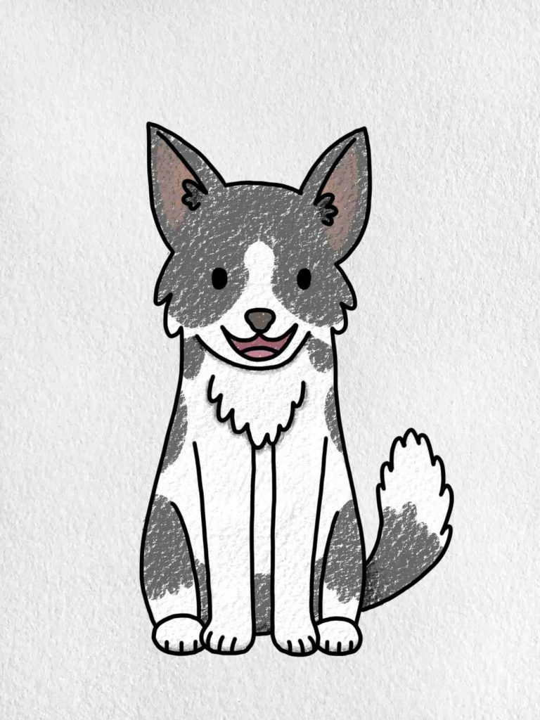 Easy Dog To Draw: Step 6