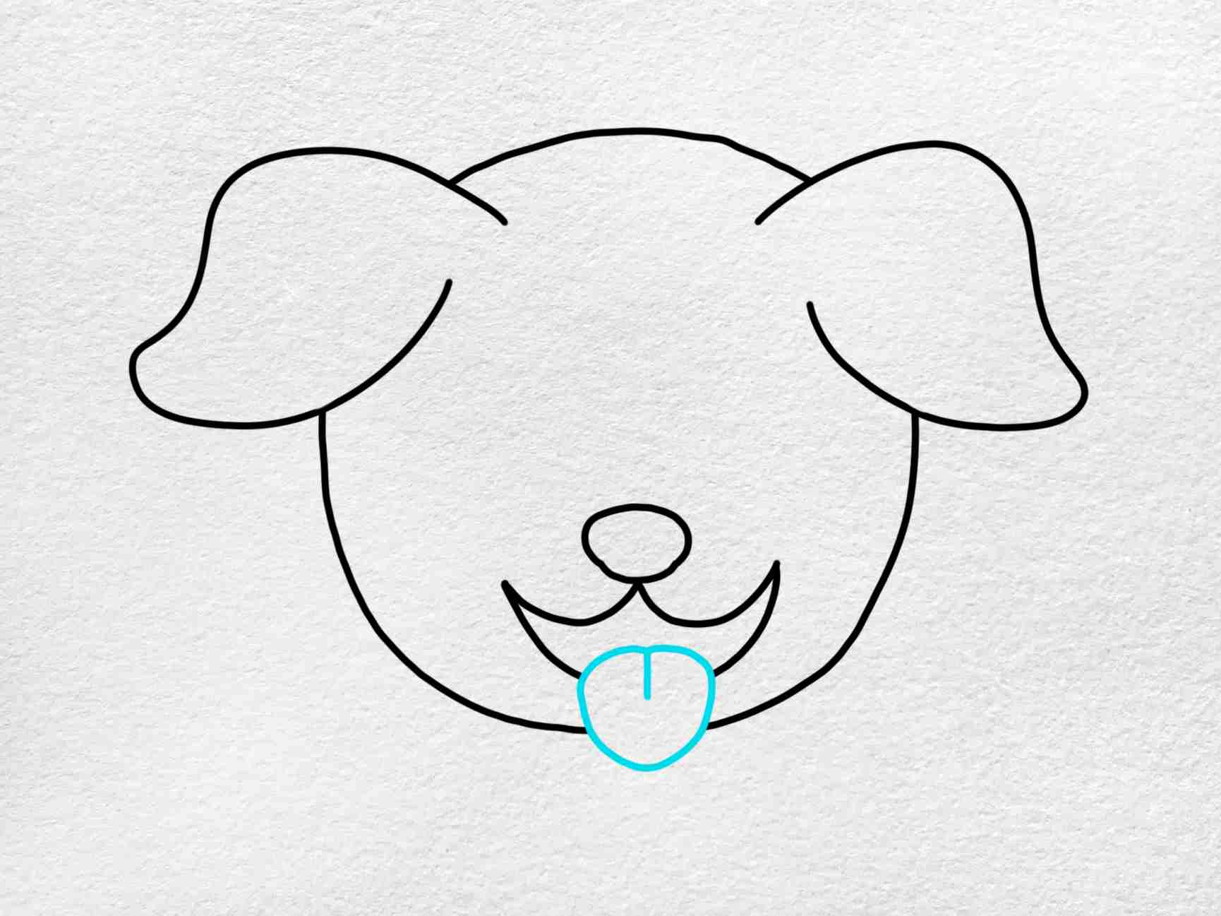 How To Draw A Dog Face: Step 4