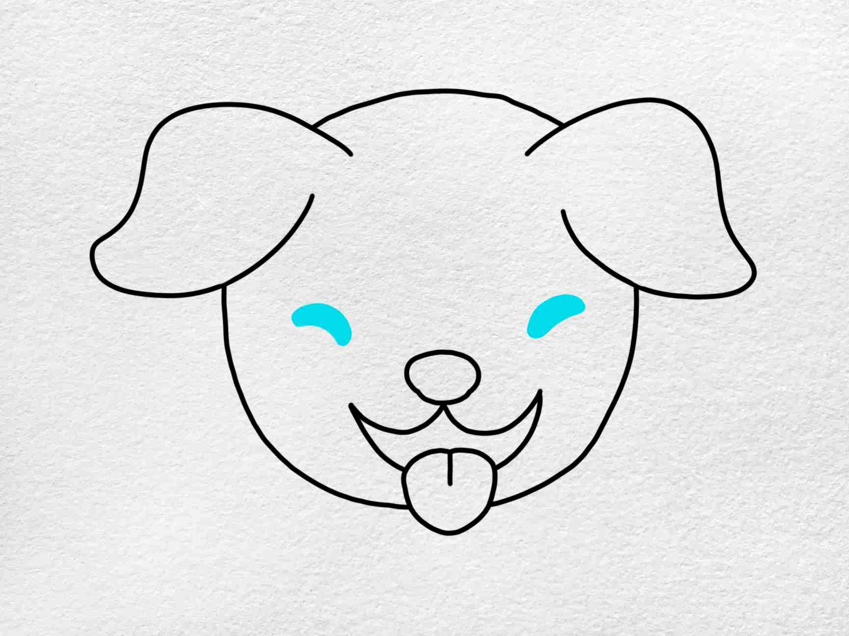 How To Draw A Dog Face: Step 5