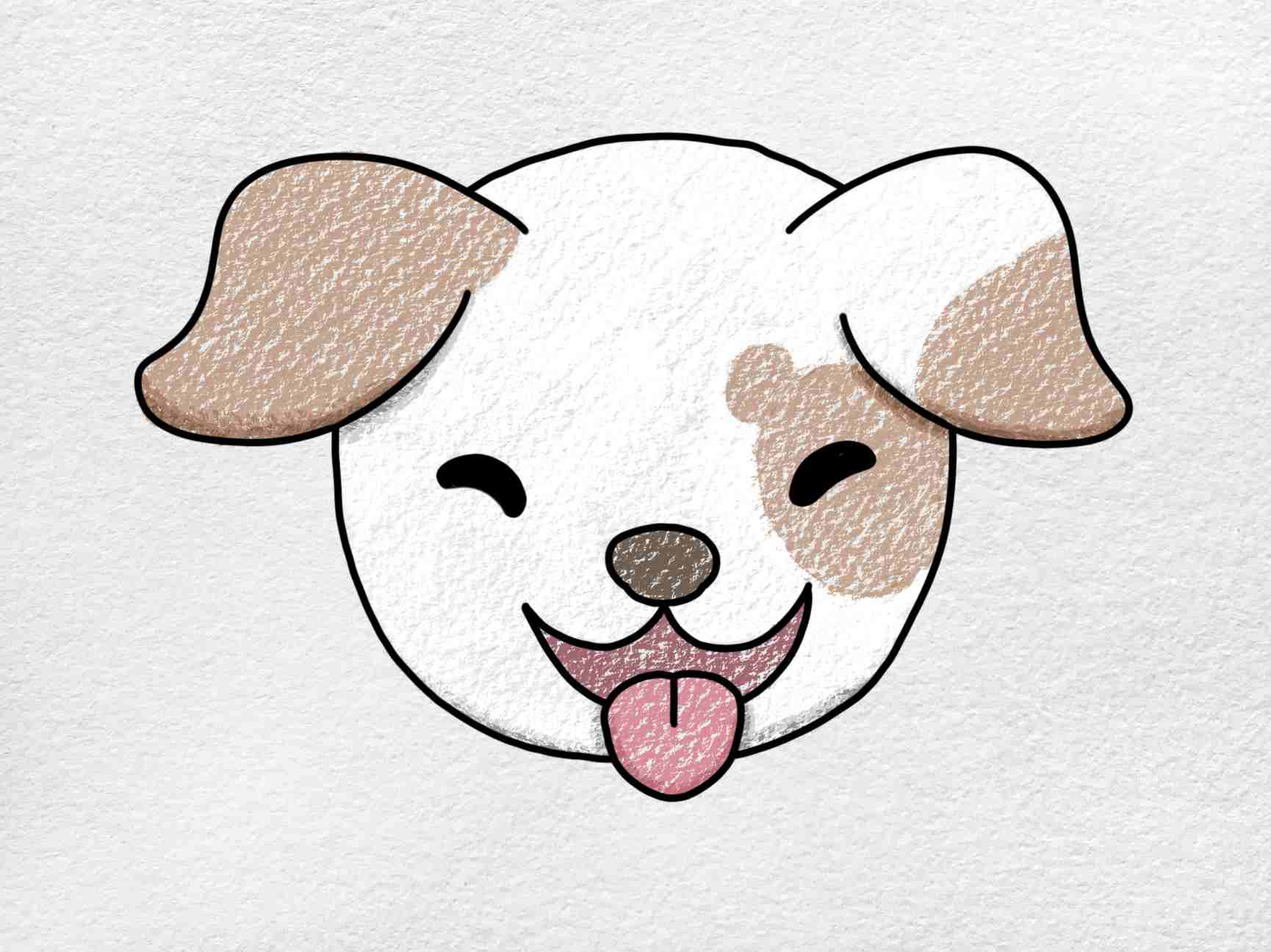 How To Draw A Dog Face: Step 6