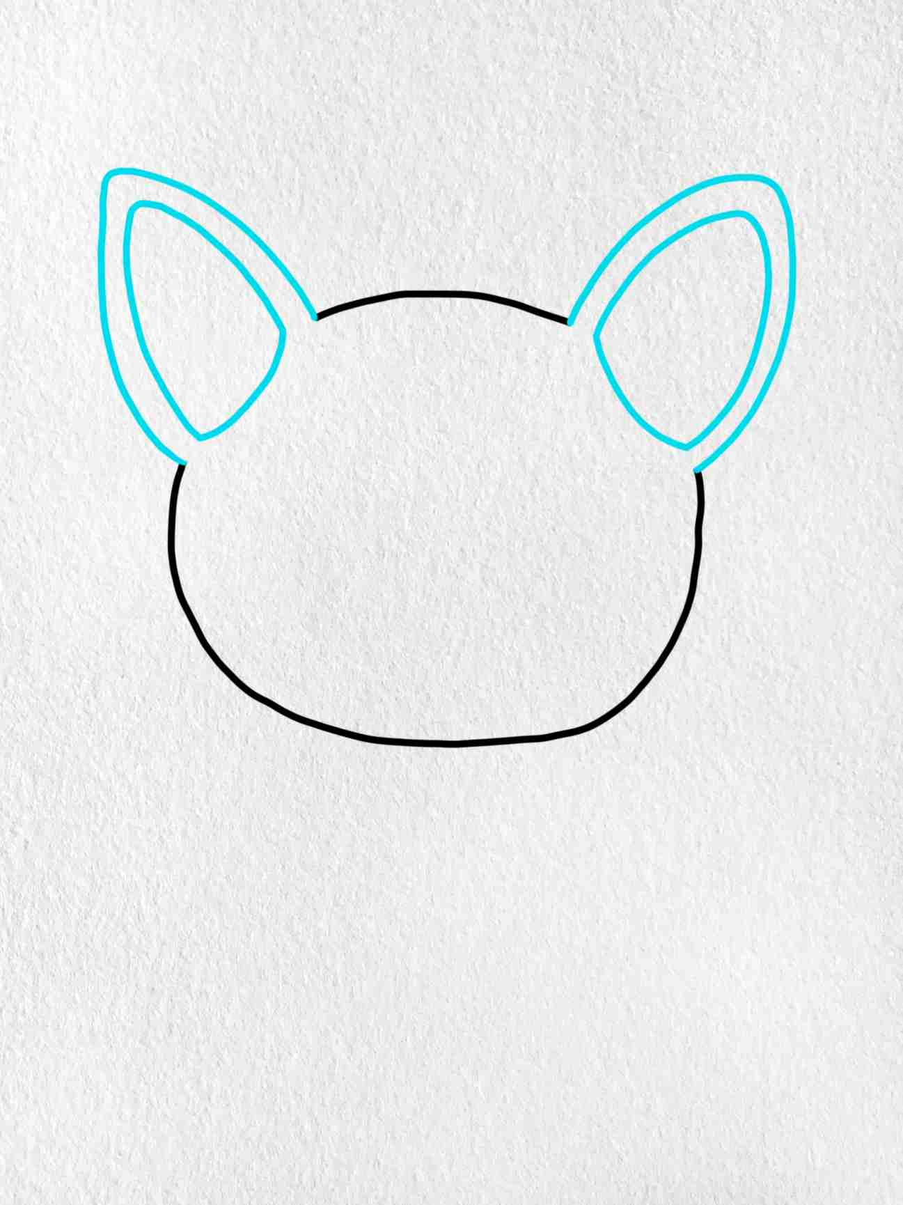 How To Draw A French Bulldog: Step 2