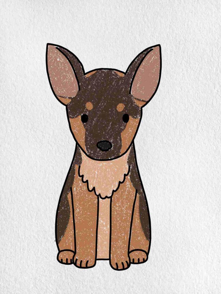 How To Draw A German Shepherd: Step 6
