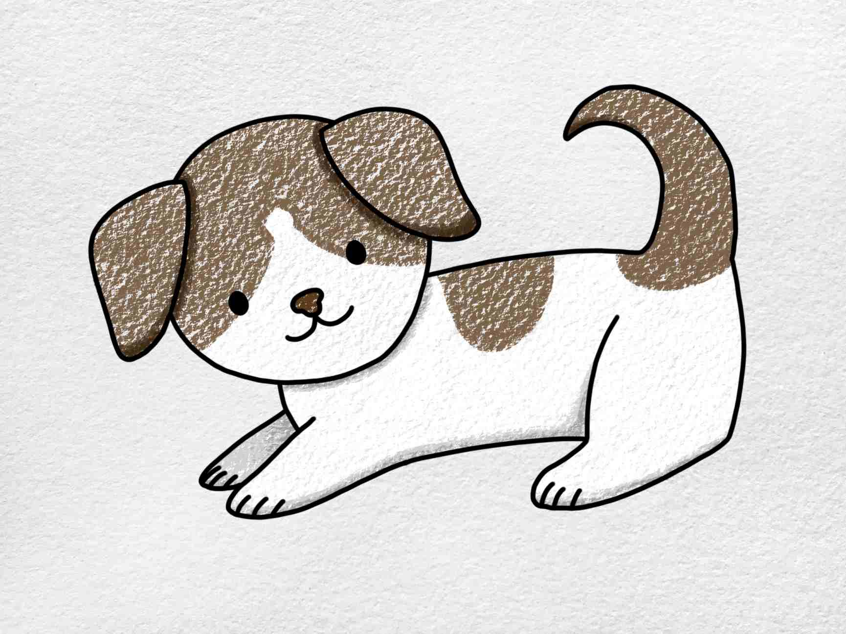 How To Draw A Puppy Step By Step: Step 6