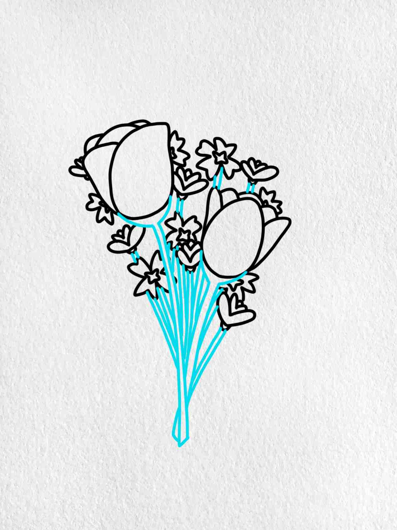 Easy To Draw Flowers: Step 4