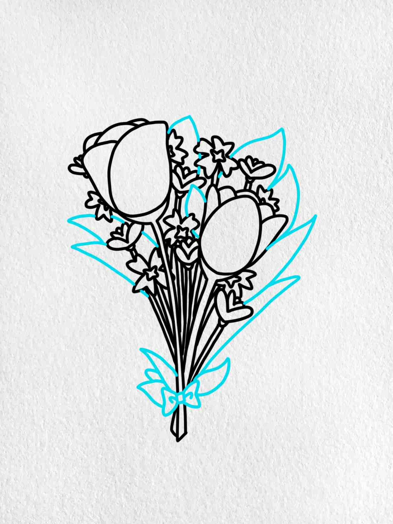Easy To Draw Flowers: Step 5