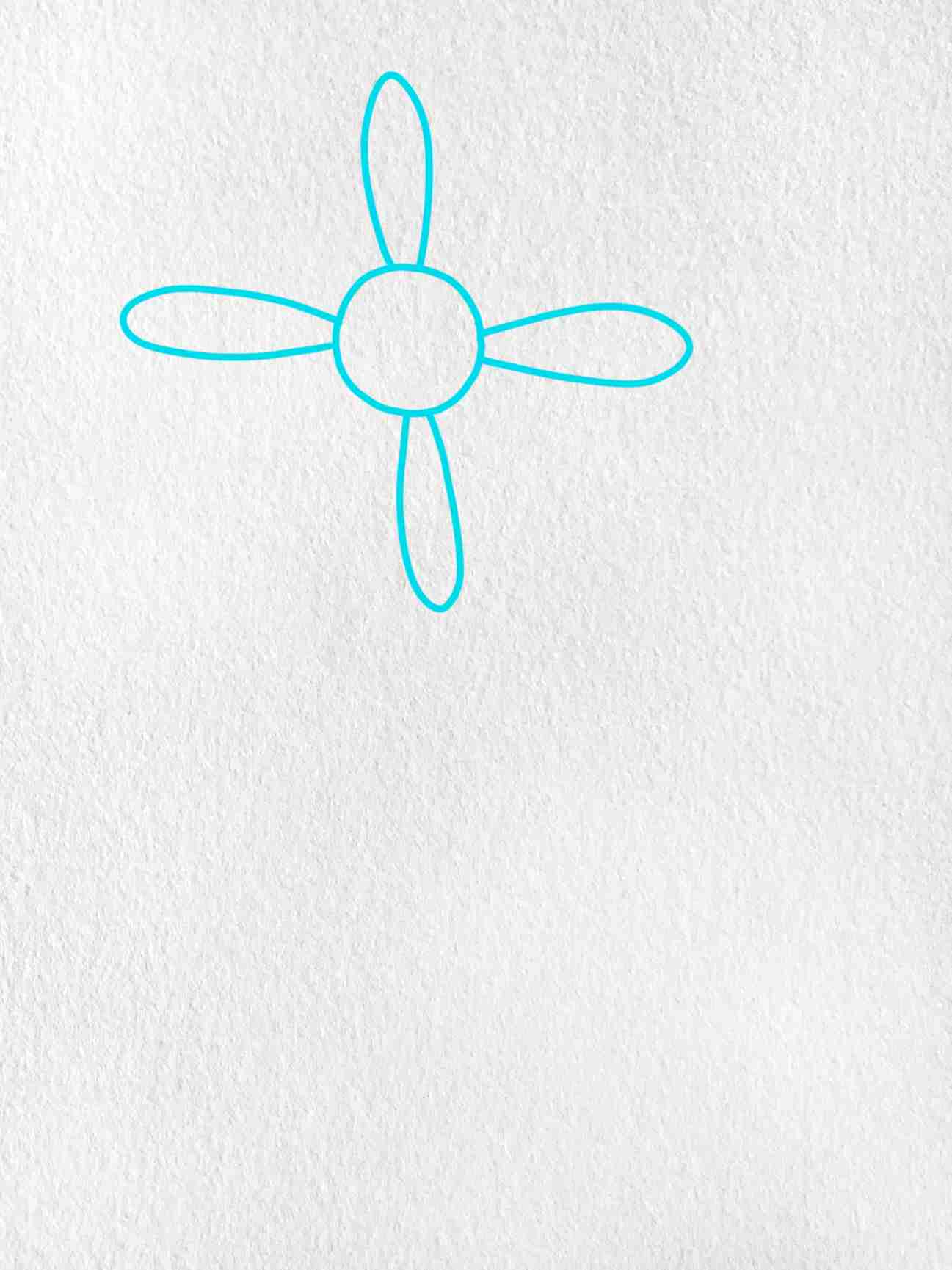 How To Draw A Daisy Flower: Step 1