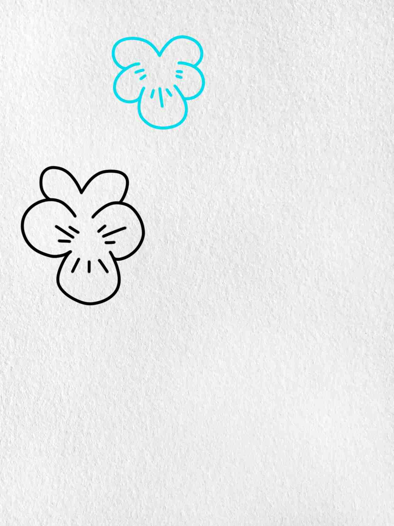 How To Draw A Violet: Step 2