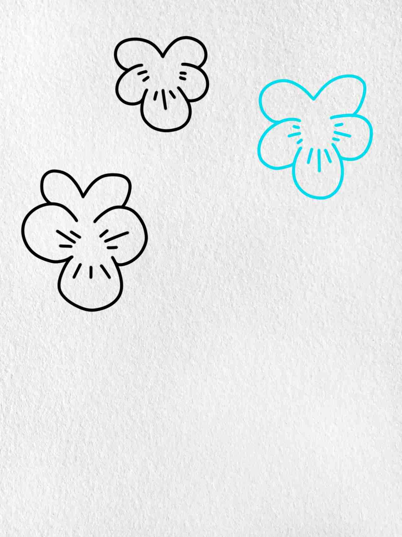 How To Draw A Violet: Step 3