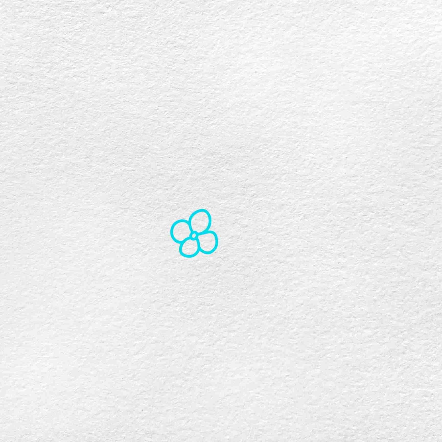 How To Draw Hydrangea: Step 1