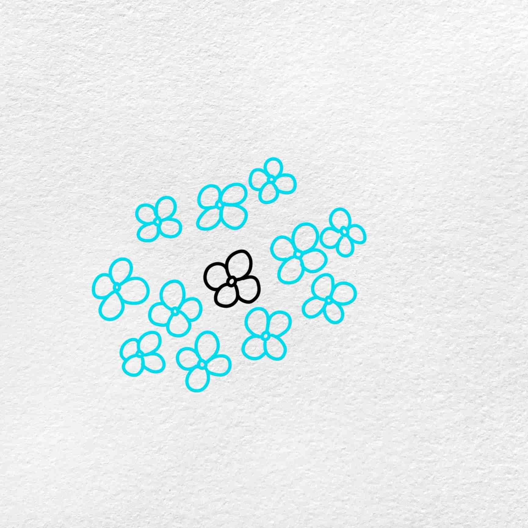 How To Draw Hydrangea: Step 2
