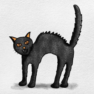 Easy Black Cat Drawing: Step 6