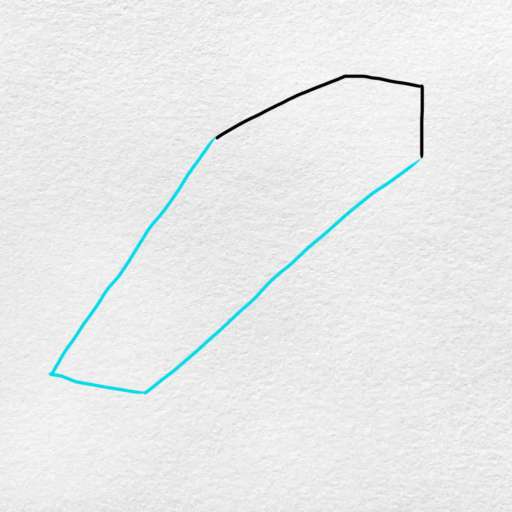 How To Draw A Coffin: Step 2