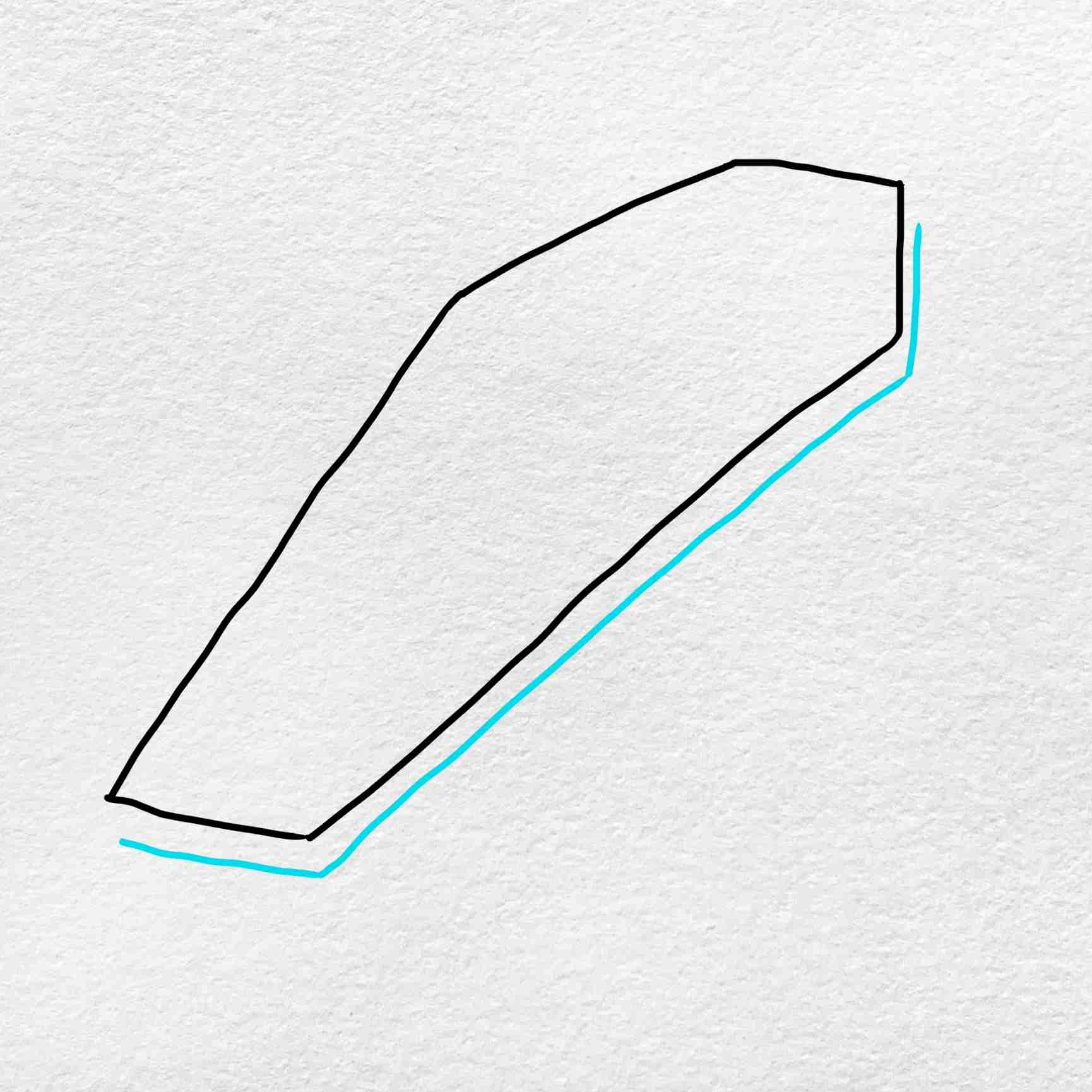 How To Draw A Coffin: Step 3