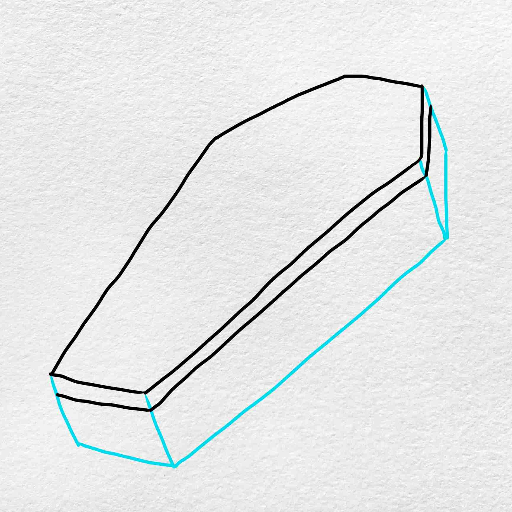How To Draw A Coffin: Step 4