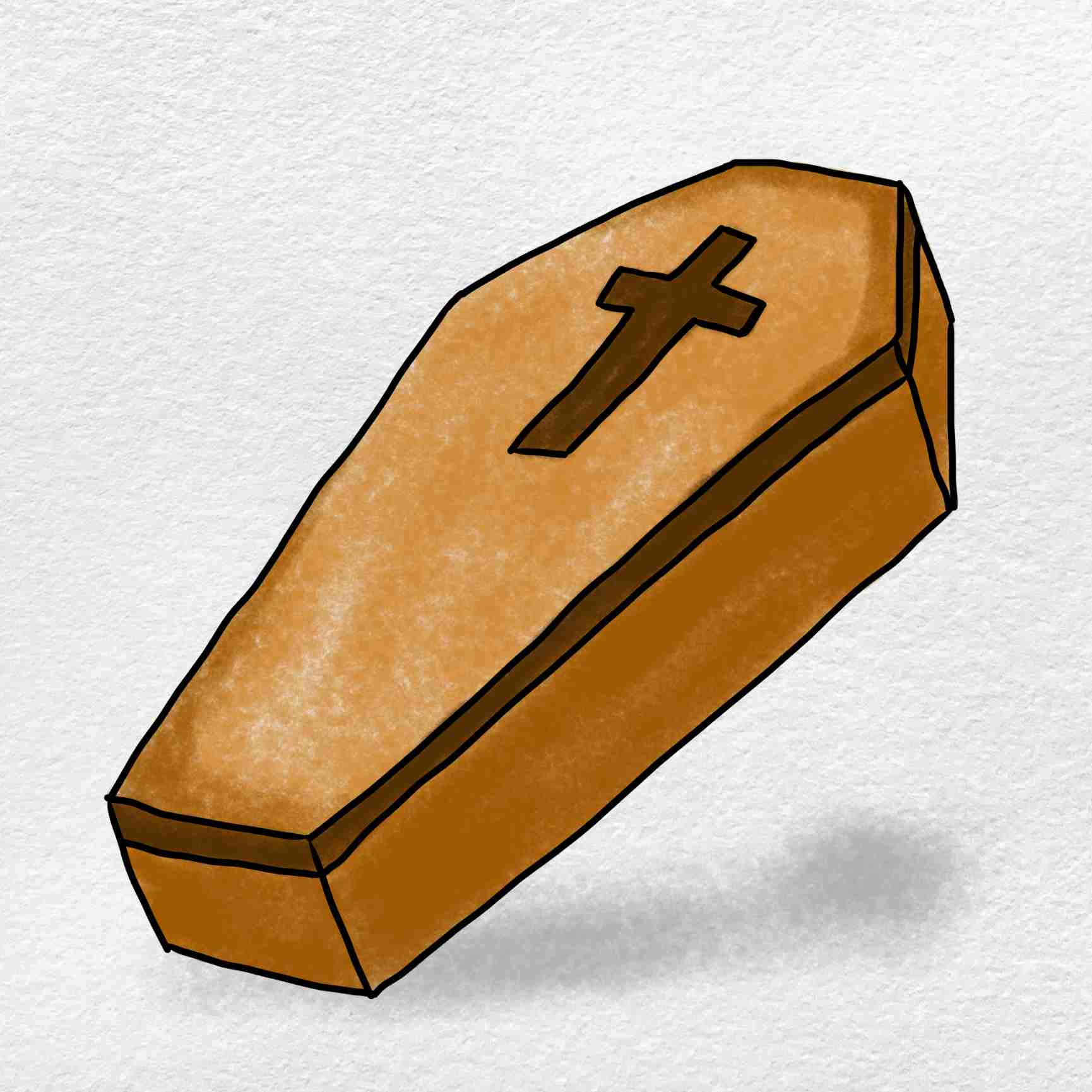 How To Draw A Coffin: Step 6