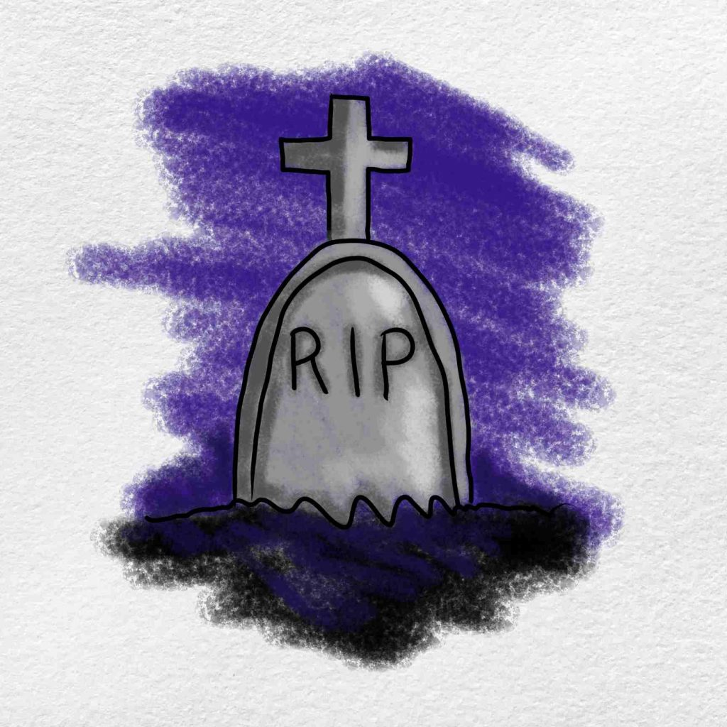 How To Draw A Graveyard: Step 6