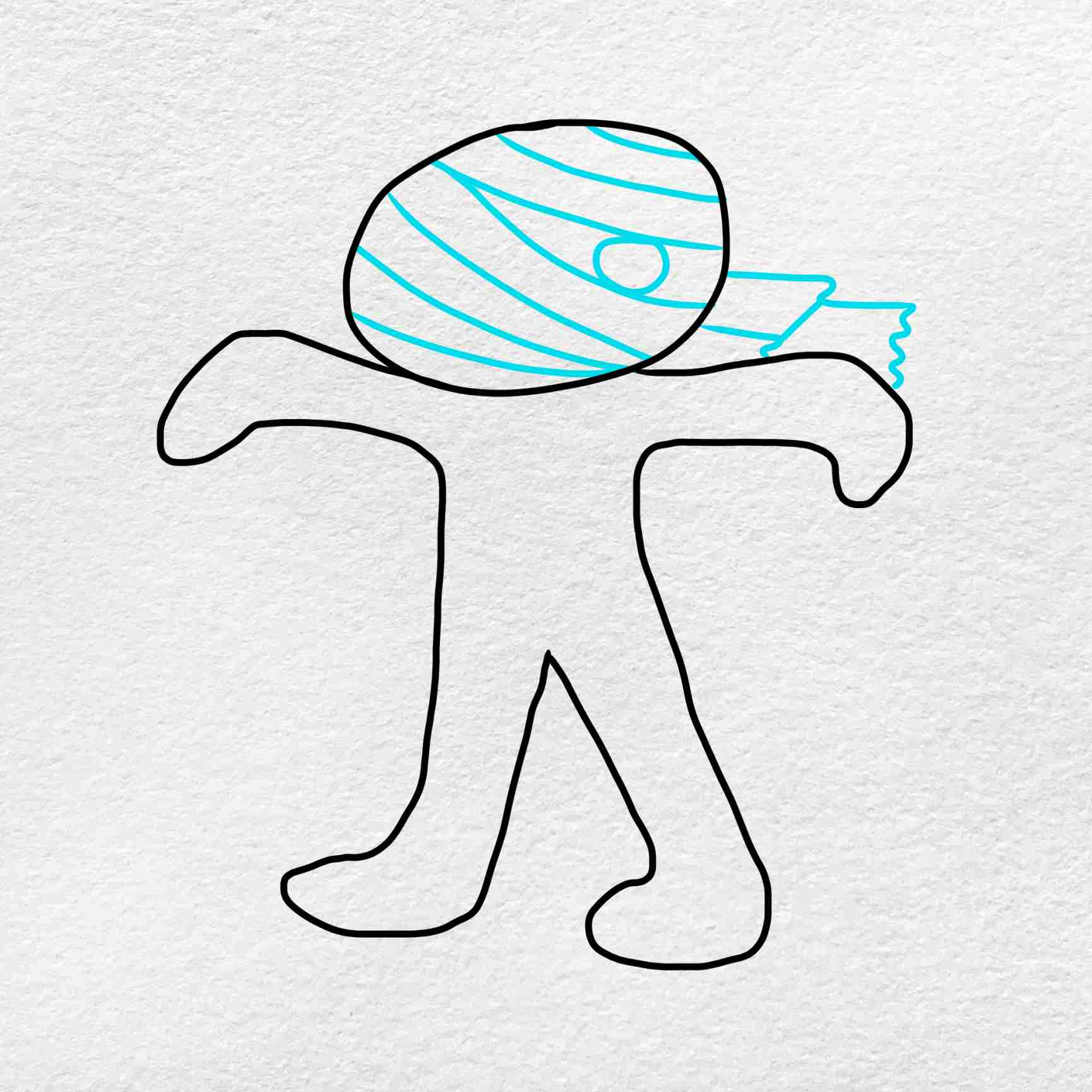 Mummy Drawing: Step 3