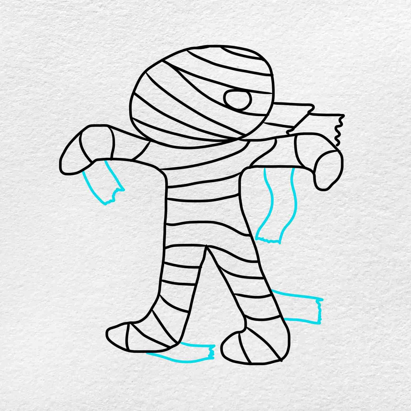 Mummy Drawing: Step 5