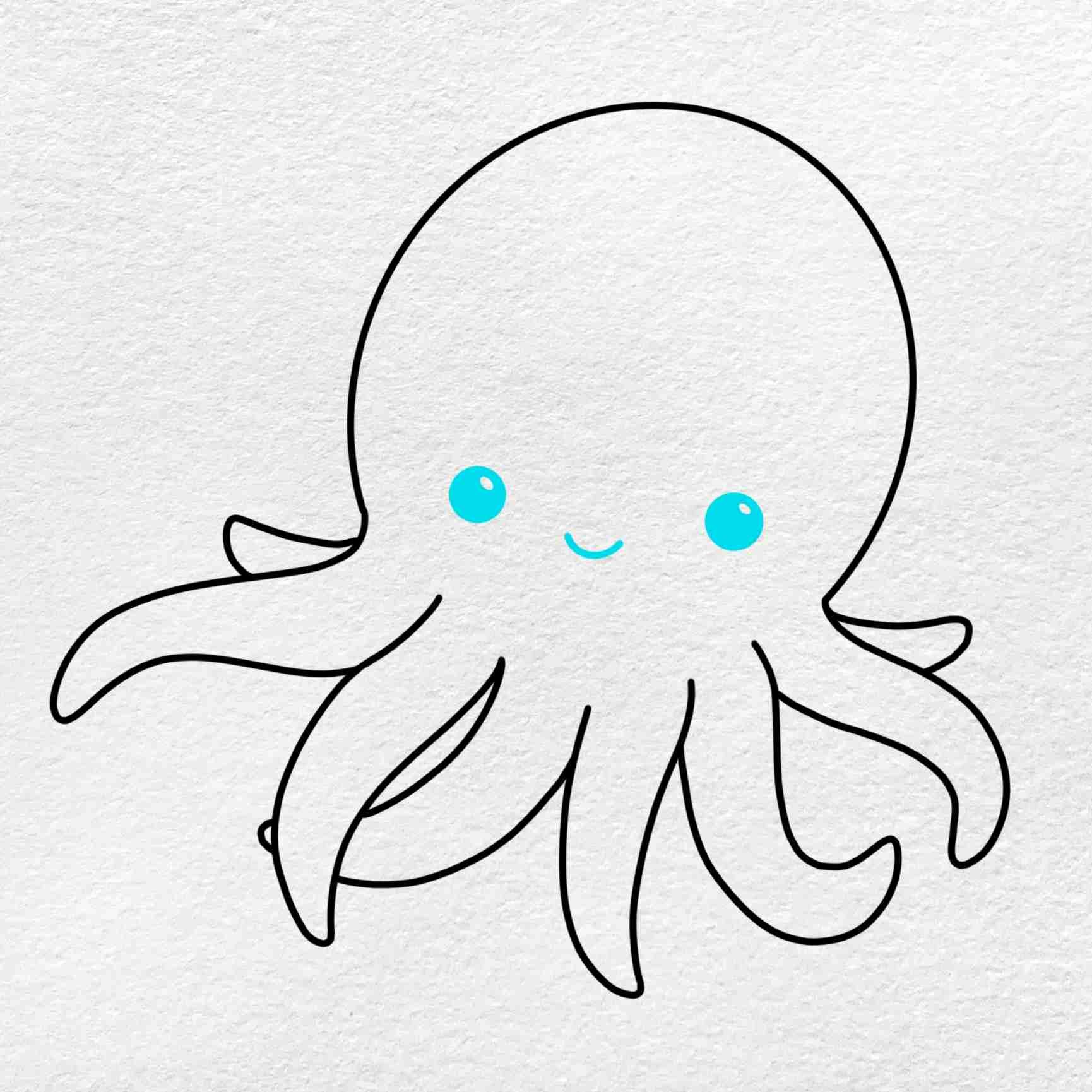 Cute Octopus Drawing: Step 5