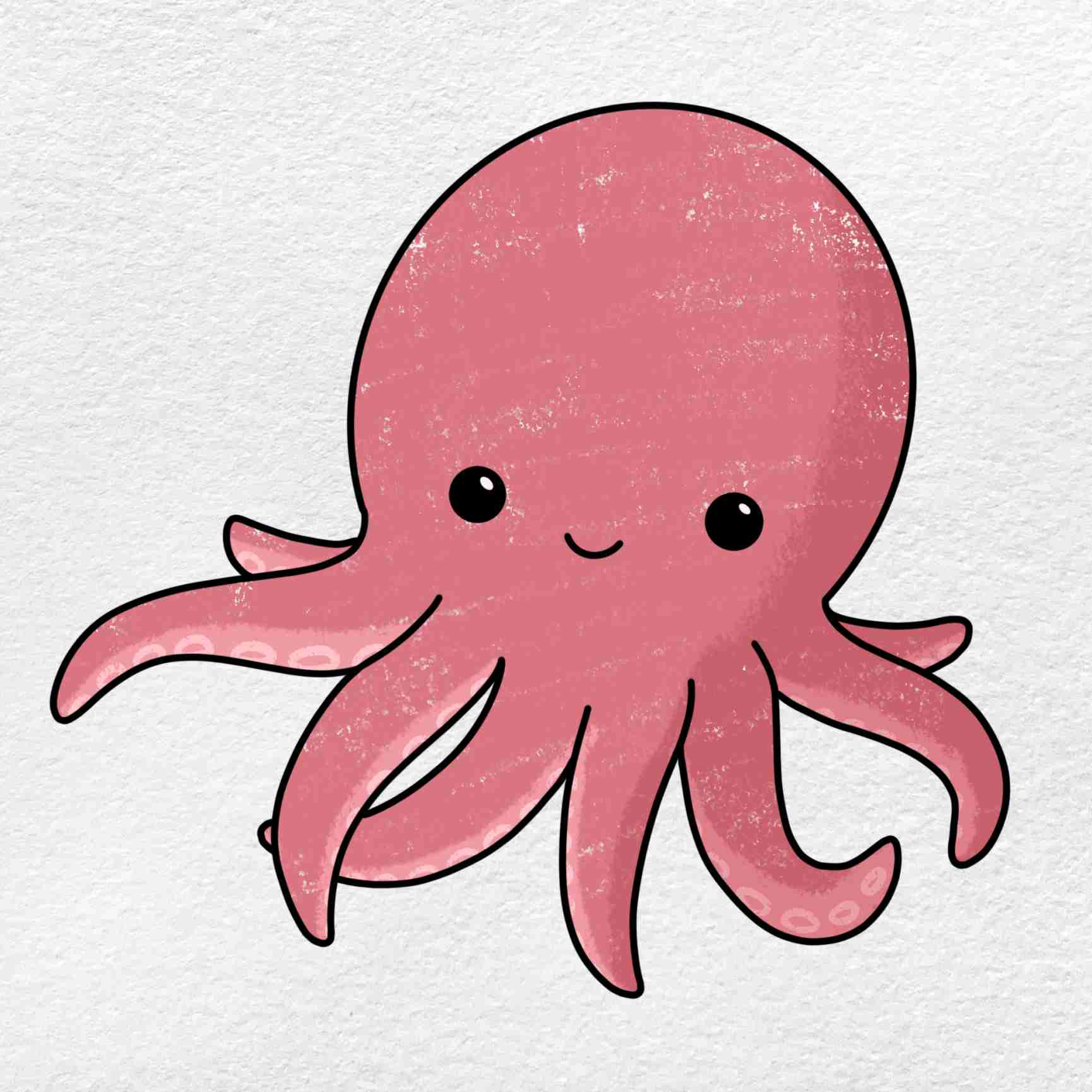 Cute Octopus Drawing: Step 6