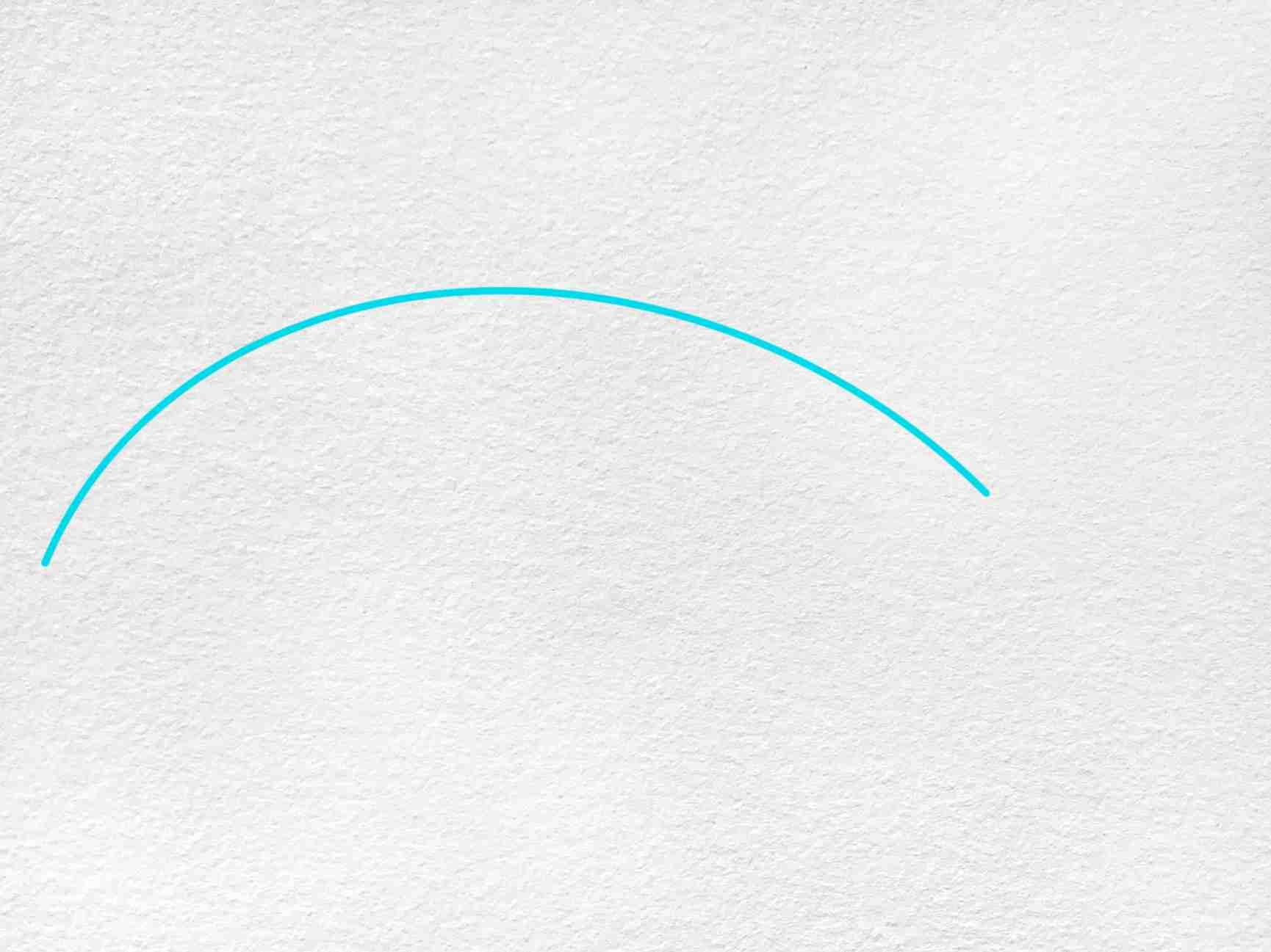 Cute Shark Drawing: Step 1
