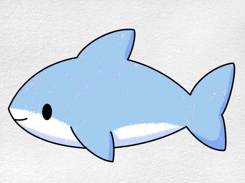 Cute Shark Drawing: Step 6