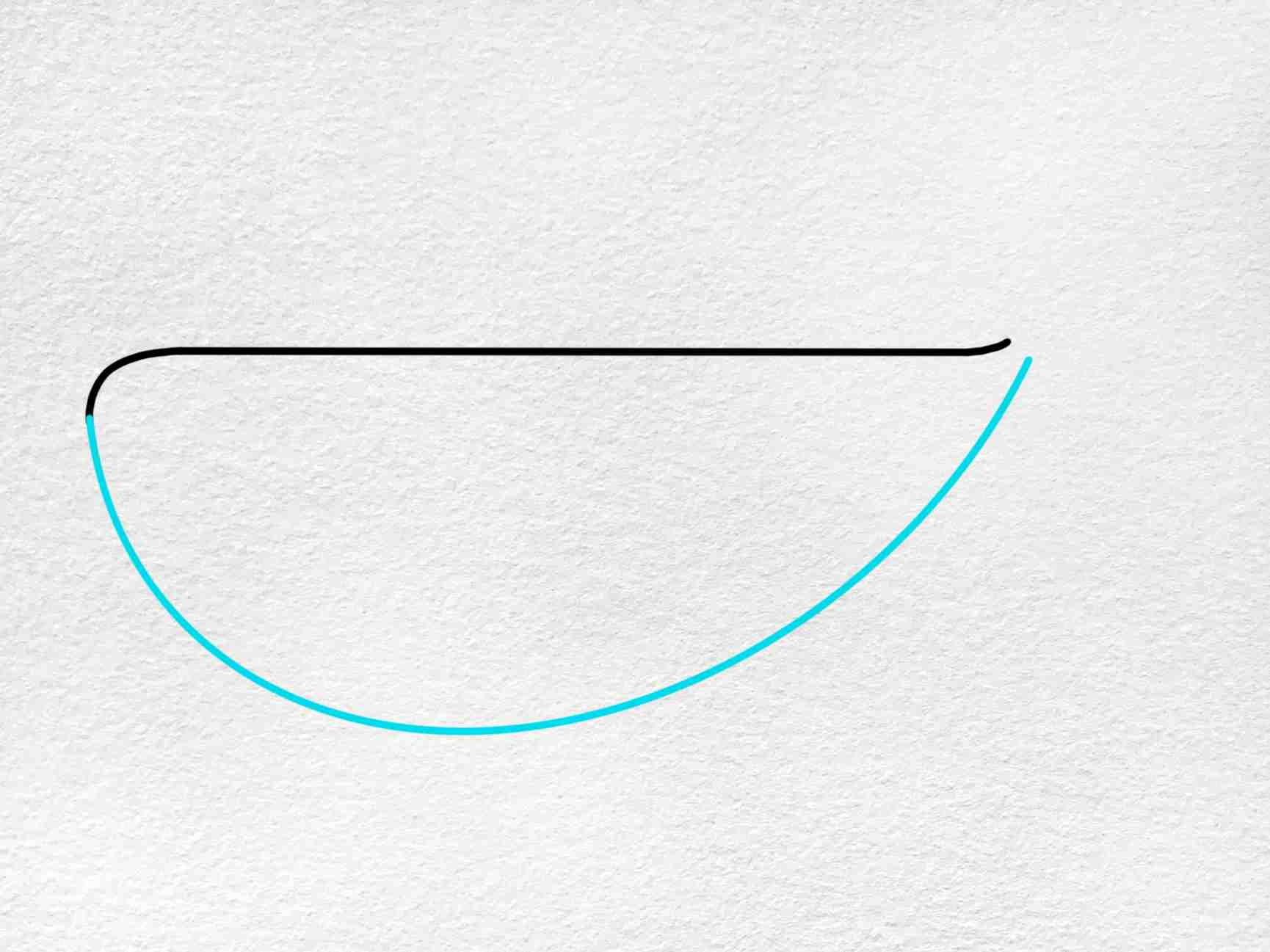 Cute Whale Drawing: Step 2