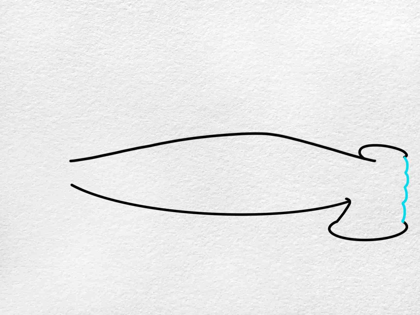 How To Draw A Hammerhead Shark: Step 3