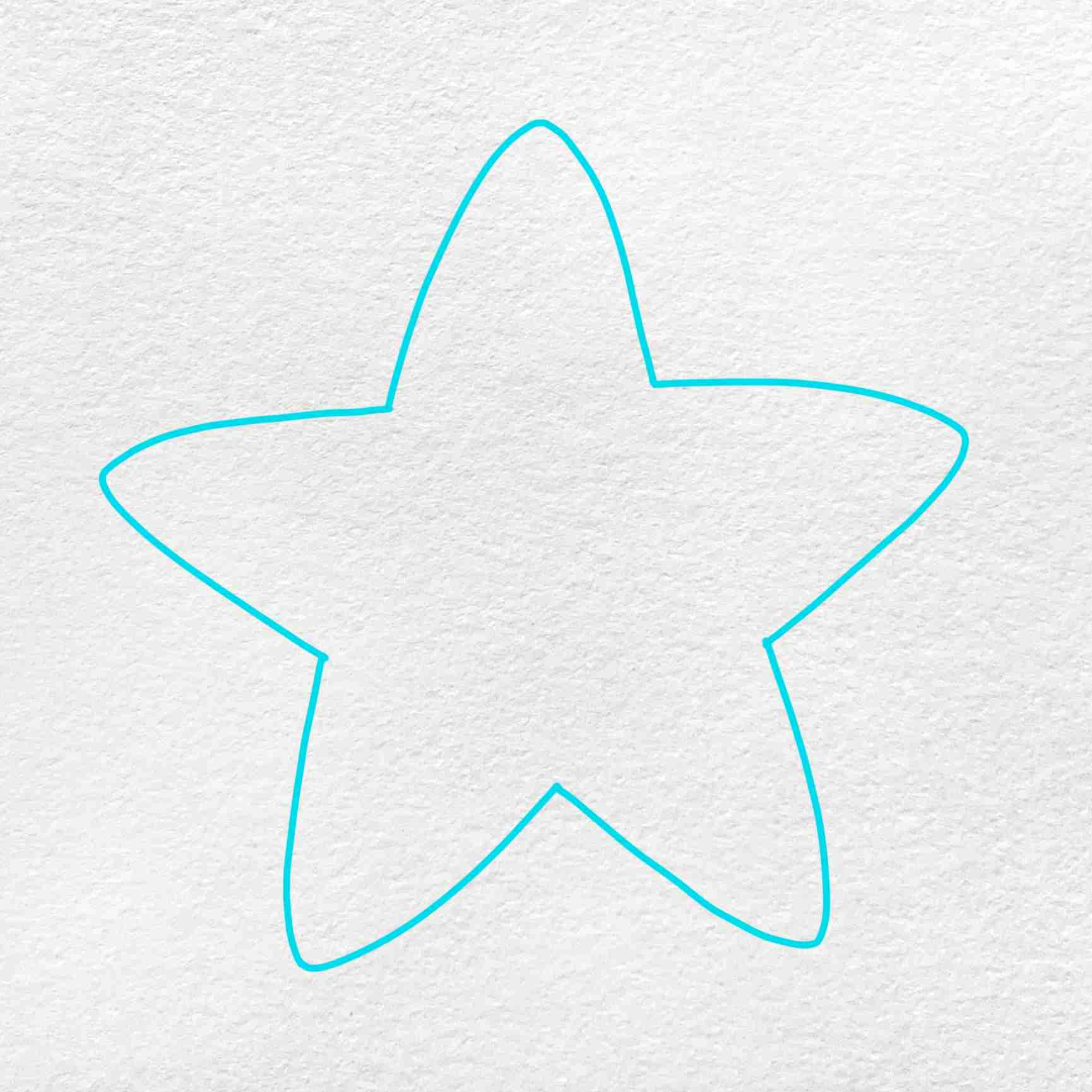 How To Draw A Starfish: Step 1