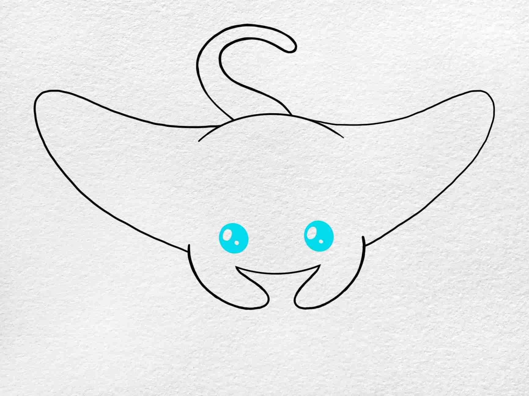 Manta Ray Drawing: Step 4